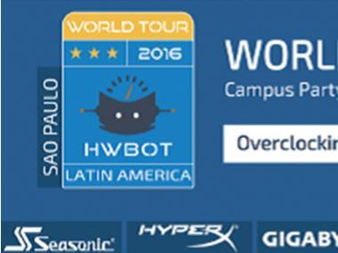 HWBOT World Tour 2016 Lands in Brazil
